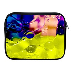 Abstract Bubbles Oil Apple Ipad 2/3/4 Zipper Cases