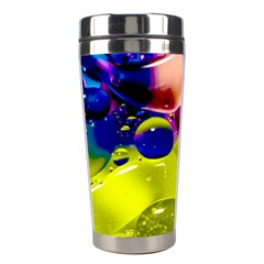 Abstract Bubbles Oil Stainless Steel Travel Tumblers by Nexatart