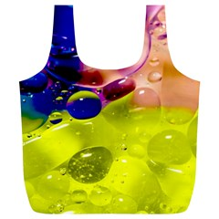 Abstract Bubbles Oil Full Print Recycle Bags (l)