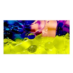 Abstract Bubbles Oil Satin Shawl