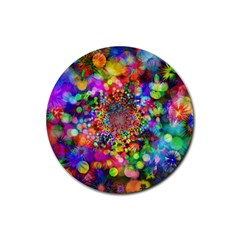 Background Color Pattern Structure Rubber Coaster (round)