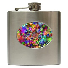 Background Color Pattern Structure Hip Flask (6 Oz)