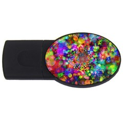 Background Color Pattern Structure Usb Flash Drive Oval (2 Gb)