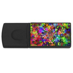 Background Color Pattern Structure Rectangular Usb Flash Drive