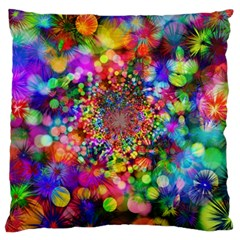Background Color Pattern Structure Large Cushion Case (one Side)