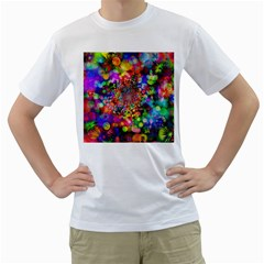 Background Color Pattern Structure Men s T Shirt (white)