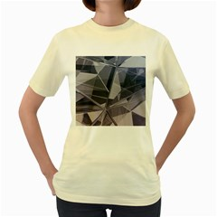 Abstract Background Abstract Minimal Women s Yellow T Shirt