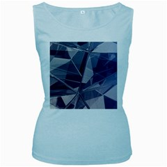 Abstract Background Abstract Minimal Women s Baby Blue Tank Top