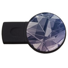 Abstract Background Abstract Minimal Usb Flash Drive Round (2 Gb)