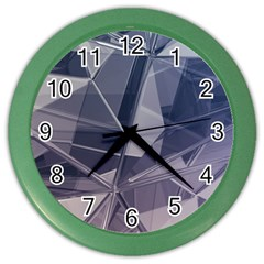Abstract Background Abstract Minimal Color Wall Clocks by Nexatart