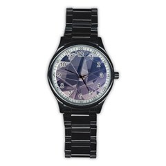 Abstract Background Abstract Minimal Stainless Steel Round Watch