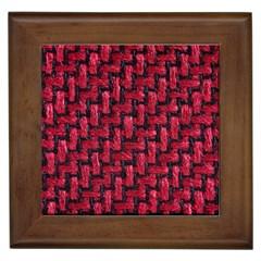 Fabric Pattern Desktop Textile Framed Tiles