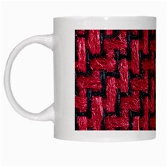 Fabric Pattern Desktop Textile White Mugs