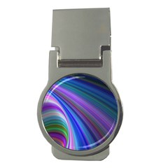 Background Abstract Curves Money Clips (round)