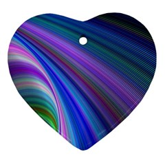 Background Abstract Curves Heart Ornament (two Sides)