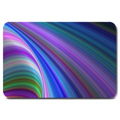 Background Abstract Curves Large Doormat