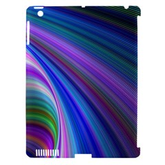 Background Abstract Curves Apple Ipad 3/4 Hardshell Case (compatible With Smart Cover)
