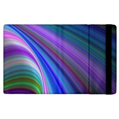 Background Abstract Curves Apple Ipad 3/4 Flip Case