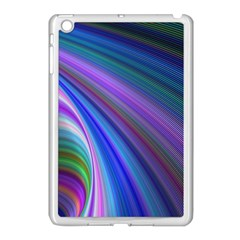 Background Abstract Curves Apple Ipad Mini Case (white)