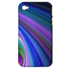 Background Abstract Curves Apple Iphone 4/4s Hardshell Case (pc+silicone)