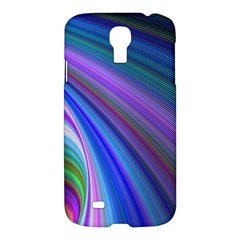 Background Abstract Curves Samsung Galaxy S4 I9500/i9505 Hardshell Case