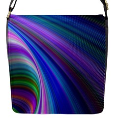 Background Abstract Curves Flap Messenger Bag (s)