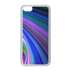 Background Abstract Curves Apple Iphone 5c Seamless Case (white)