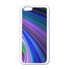 Background Abstract Curves Apple Iphone 6/6s White Enamel Case
