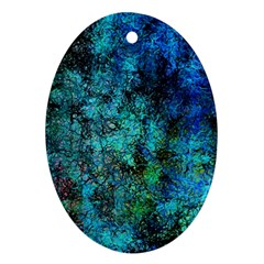 Color Abstract Background Textures Ornament (oval)