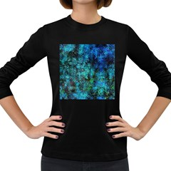 Color Abstract Background Textures Women s Long Sleeve Dark T Shirts