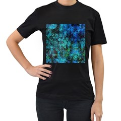 Color Abstract Background Textures Women s T Shirt (black)