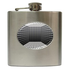 Space Glass Blocks Background Hip Flask (6 Oz)