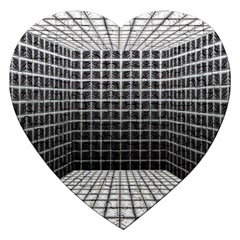 Space Glass Blocks Background Jigsaw Puzzle (heart)