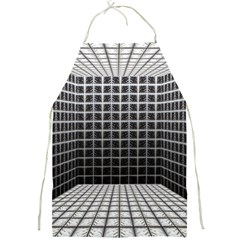 Space Glass Blocks Background Full Print Aprons