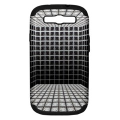 Space Glass Blocks Background Samsung Galaxy S Iii Hardshell Case (pc+silicone)