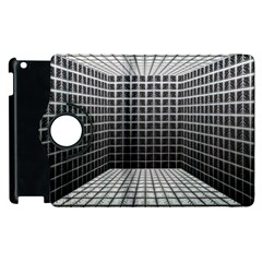 Space Glass Blocks Background Apple Ipad 2 Flip 360 Case