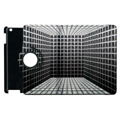 Space Glass Blocks Background Apple Ipad 3/4 Flip 360 Case by Nexatart