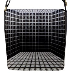 Space Glass Blocks Background Flap Messenger Bag (s)