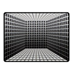 Space Glass Blocks Background Double Sided Fleece Blanket (small)  by Nexatart