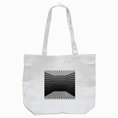 Space Glass Blocks Background Tote Bag (white)