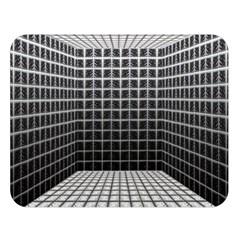 Space Glass Blocks Background Double Sided Flano Blanket (large)  by Nexatart