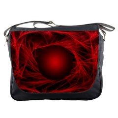 Abstract Scrawl Doodle Mess Messenger Bags