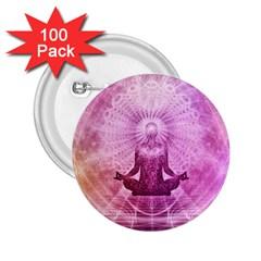 Meditation Spiritual Yoga 2 25  Buttons (100 Pack)
