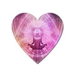 Meditation Spiritual Yoga Heart Magnet