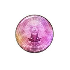 Meditation Spiritual Yoga Hat Clip Ball Marker by Nexatart