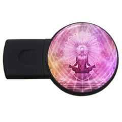 Meditation Spiritual Yoga Usb Flash Drive Round (4 Gb) by Nexatart