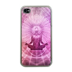 Meditation Spiritual Yoga Apple Iphone 4 Case (clear)