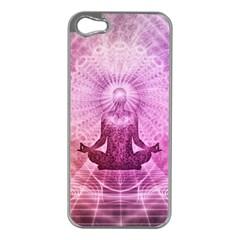 Meditation Spiritual Yoga Apple Iphone 5 Case (silver)