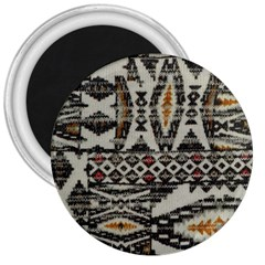 Fabric Textile Abstract Pattern 3  Magnets