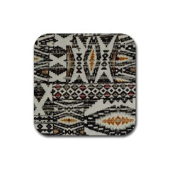 Fabric Textile Abstract Pattern Rubber Coaster (square)